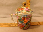 Beautiful Asian style cup w/lid...