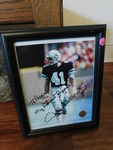 Framed Charlie Waters signed pictur...