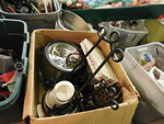 Box of assorted cookware...