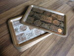 Set of 10 vintage Good Luck Trays, ...