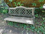 Outdoor park bench w/wrought iron f...