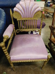 Cute gold painted telephone chair w...