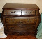 NICE CURVY CHEST DRESSER WITH GREAT DETAILS