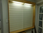 Great lighted cabinet used for eyew...