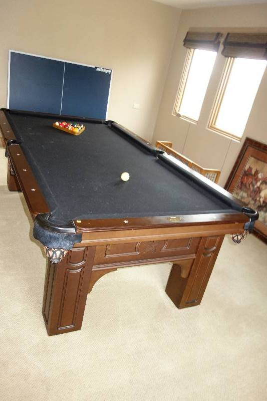OLHAUSEN SLATE POOL TABLE WITH PINGPONG TOPPER SUPER SOUTHLAKE - 9 slate pool table