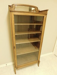 Lovely antique oak glass front disp...