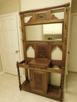 Awesome antique ornate oak hall tre...