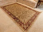 Great Karachi Bisque area carpet, a...