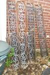 IRON PORCH SUPPORTS WITH IRON GATE