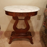 Marble Top Harp Side Table