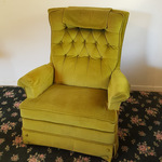 Avocado Green Rocking Recliner