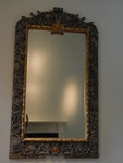Large ornate beveled wall mirror, g...