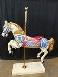 Awesome carousel horse in vibrant c...