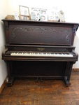 Vintage Cable & Sons upright piano,...