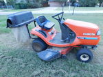 Kubota T1460 riding mower w/attachm...