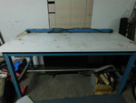 Large IAC Industries work table and...