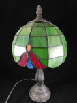 Great Tiffany-style small lamp, gre...