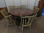 Mid-century dining table w/6 chairs...