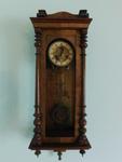 Vintage wall chime clock, works gre...
