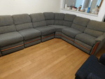 Gray 4-pc sectional sofa unit...