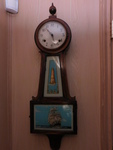Vintage wood wall chime clock w/shi...