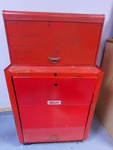 Red metal Duplex tool cabinet w/con...
