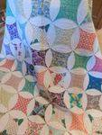 Vintage hand-stitched quilt, approx...