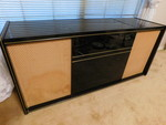 Awesome mid-century black lacquer T...