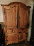 Beautiful solid wood armoire w/2 mi...