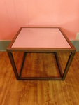 Great gold metal frame end table w/...