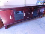 Beautiful cherry finish credenza w/...