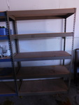 "Heavy duty shelf unit, approx 48""x1..."
