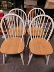 Set of 4 country style dining chair...