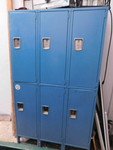 Blue metal locker cabinet w/6 doors...