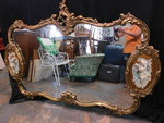 Gorgeous ornate gold tone frame lar...