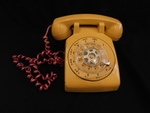 Vintage gold tone rotary phone...