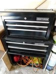 Craftsman black metal tool chest w/...