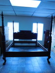 Beautiful wood king size poster bed...