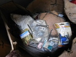 Box of assorted boat engine parts, ...
