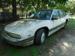 1993 Buick Regal, white w/red inter...