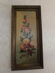 Beautiful ornate gold frame rose pa...