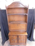 Cute wood cabinet w/hutch top, appr...