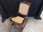 Great folding rocking chair w/cane ...