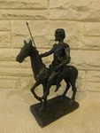 Great man on horse w/spear sculptur...