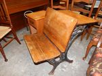 Vintage school desk back/chair fron...