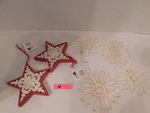 snowflake and star ornaments