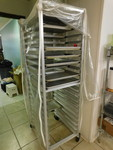 Commercial drying rack w/trays and ...