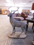 LARGE OUTDOOR METAL DEER STATUE