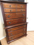 Beautiful highboy chest w/great har...