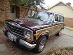 1987 Jeep Grand Wagon dark cherry w...